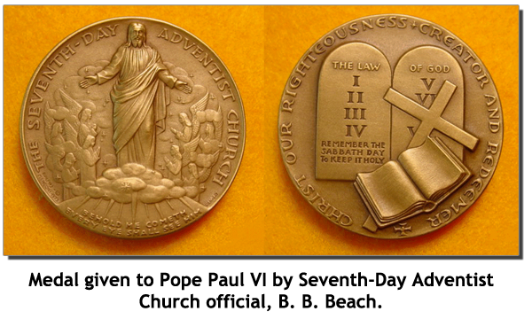 B.B. Beach Medal to Pope Paul VI