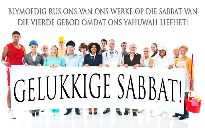 Gelukkige Sabbat!