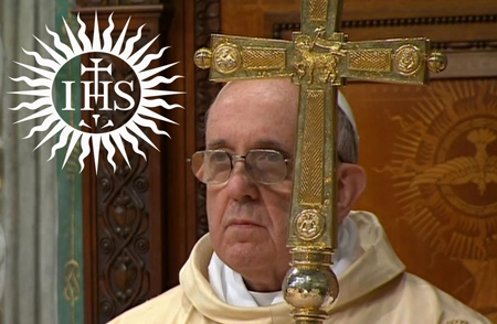 Pope Francis and Jesuit Logo