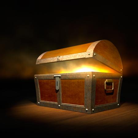 treasure chest full of light