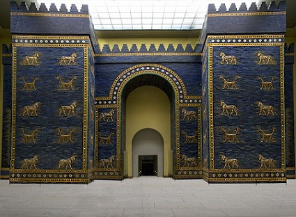 Reconstruction of the Babylonian Ishtar Gate in the Pergamon Museum in Berlin