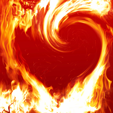 large swirl of fire