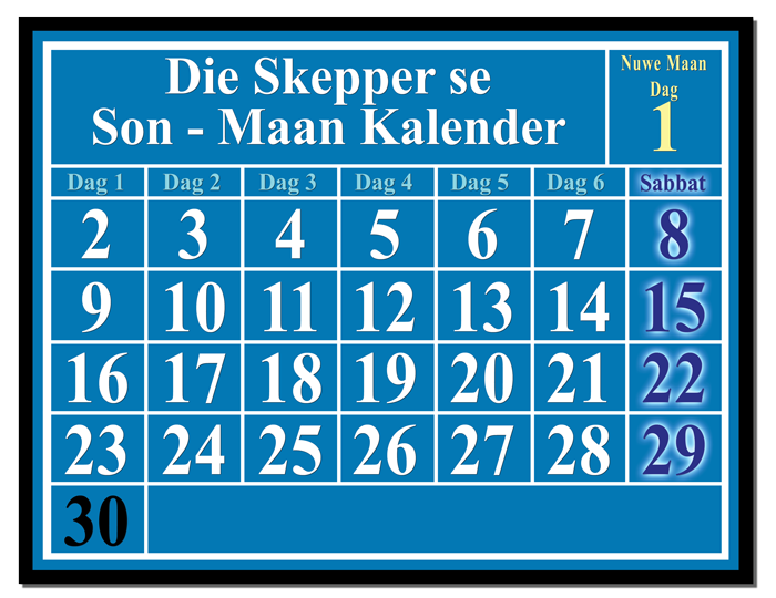 The Creator's Luni-Solar Calendar
