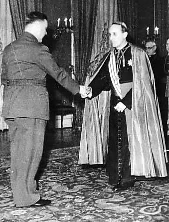 Archbishop Alois Stepinac meets with Ante Pavelić