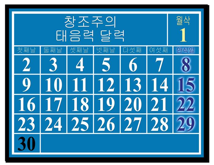 luni-solar calendar - calculating the lunar sabbath