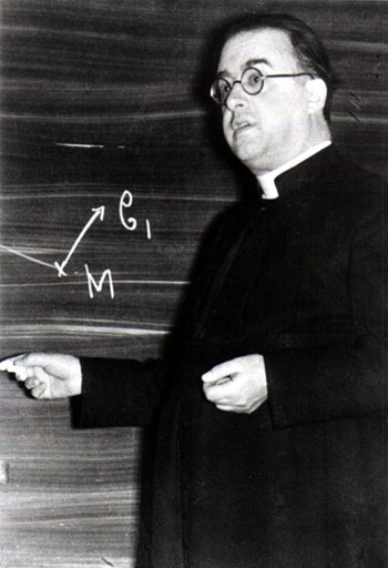 "Monseigneur Georges Lemaître, Jesuit-trained priest, author of the ""Big Bang"" theory"