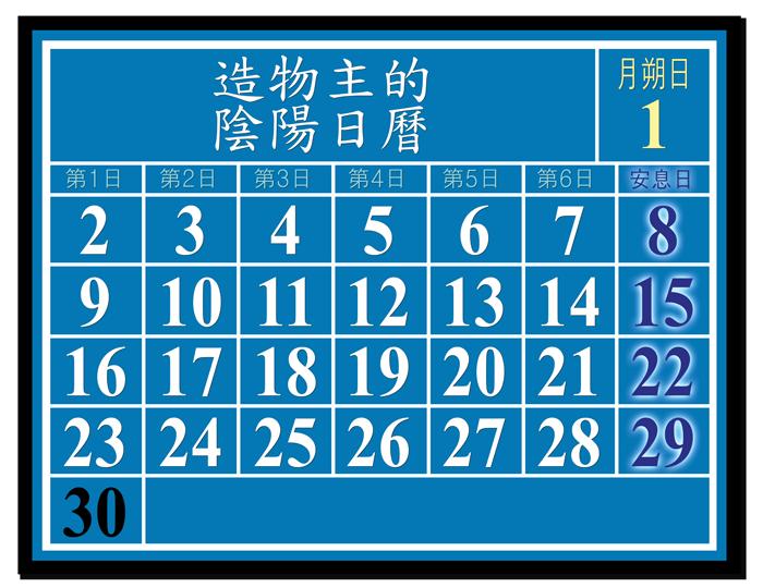 造物主的 陰陽日曆