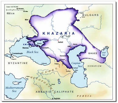Khazarian Empire at the height of its power.