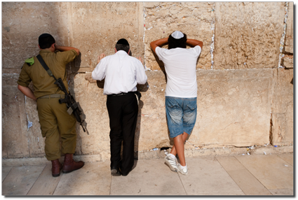 Israeli Soldier at wailing wall