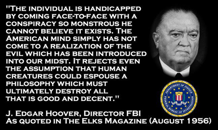 John Edgar Hoover - Elks Magazine Quote