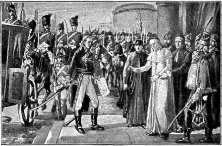 Pope Pius VI being taken captive by French armies