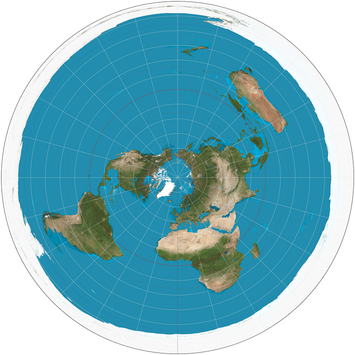 Flat Earth AE Map