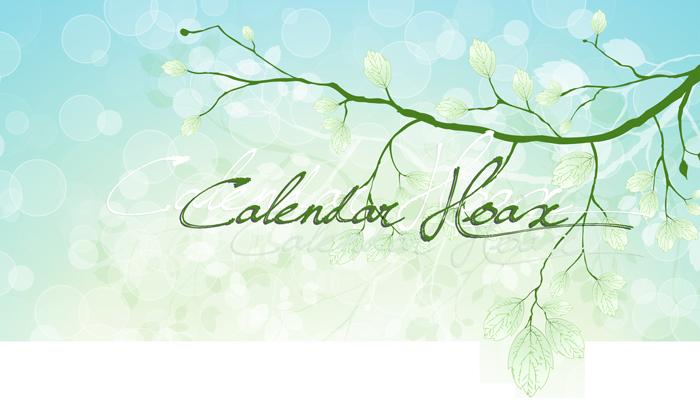 Calendar Hoax