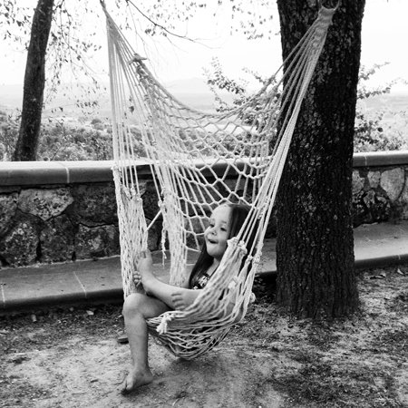 girl in hammock