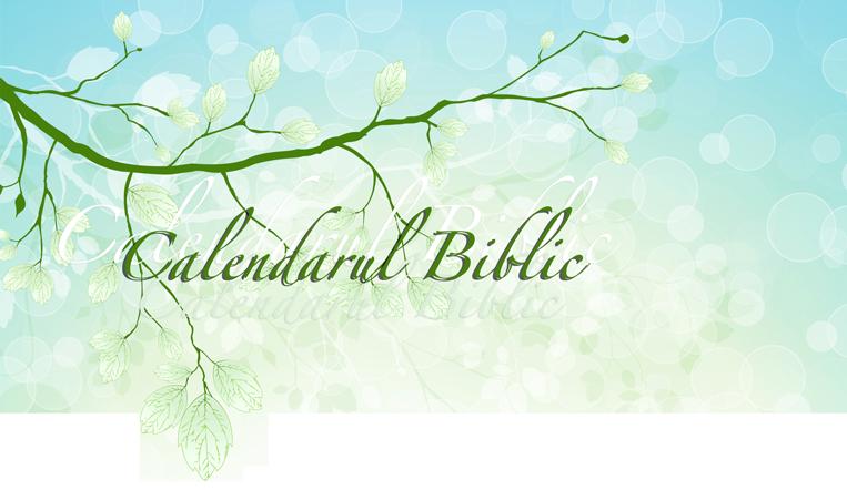 Calendarul Biblic