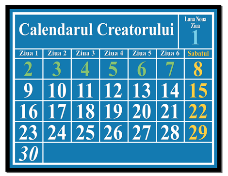 Calendarul Creatorului  luni-solar calendar