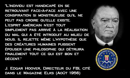 John Edgar Hoover Directeur FBI - cité dans Elks Magazine