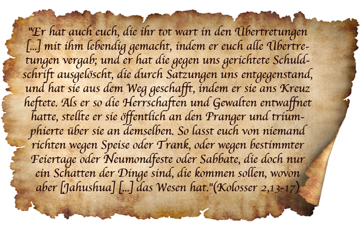 Kolosser 2,13-17