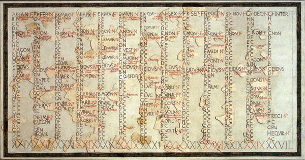 1st Century Julian Calendar with 8-day Week