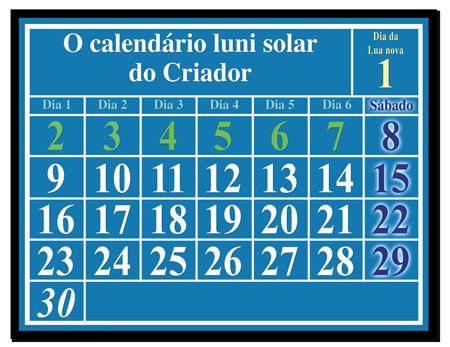 O calendário luni solar do Criador