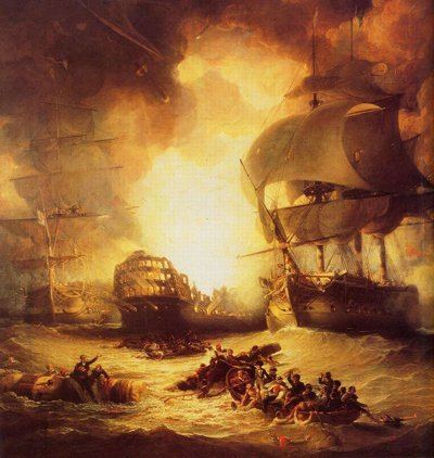 Battle of the Nile by George Arnald