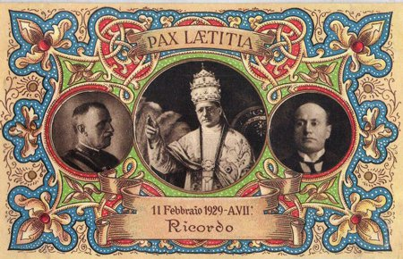 Lateran Treaty postcard