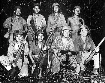 young men dressed for war