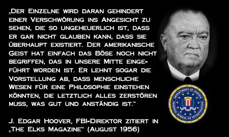 John Edgar Hoover - Zitat aus dem Elks Magazine