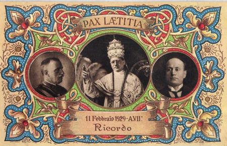Lateran Treaty postcard