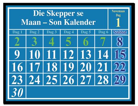 Die Skepper se Maan – Son Kalender