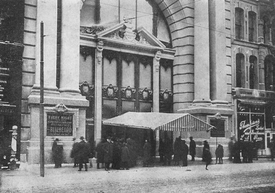 Die Iroquois Teater, Chicago Illinois, in Desember 1903.