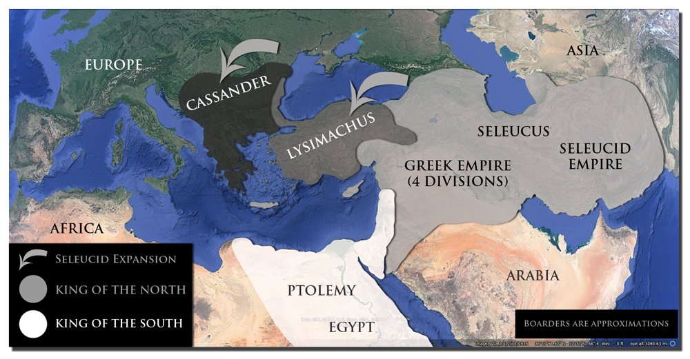 Alexander the Great's divided empire
