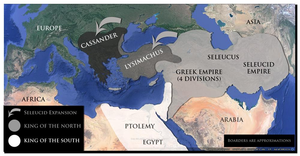 Rozdělená říše Alexandra Velikého