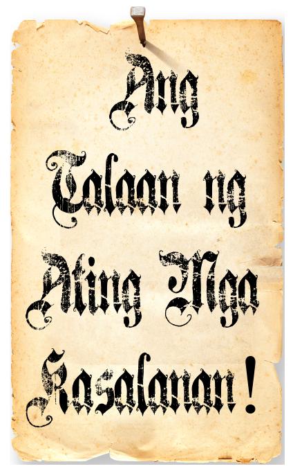 Ang Talaan ng Ating Mga Kasalanan!
