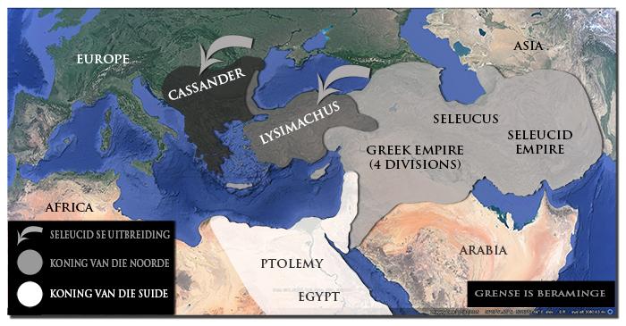 Alexander die Grote se verdeelde ryk