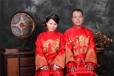 Chinese bridal couple