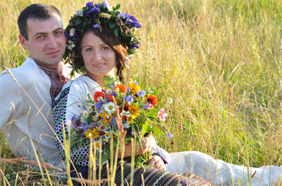 Ukranian wedding couple