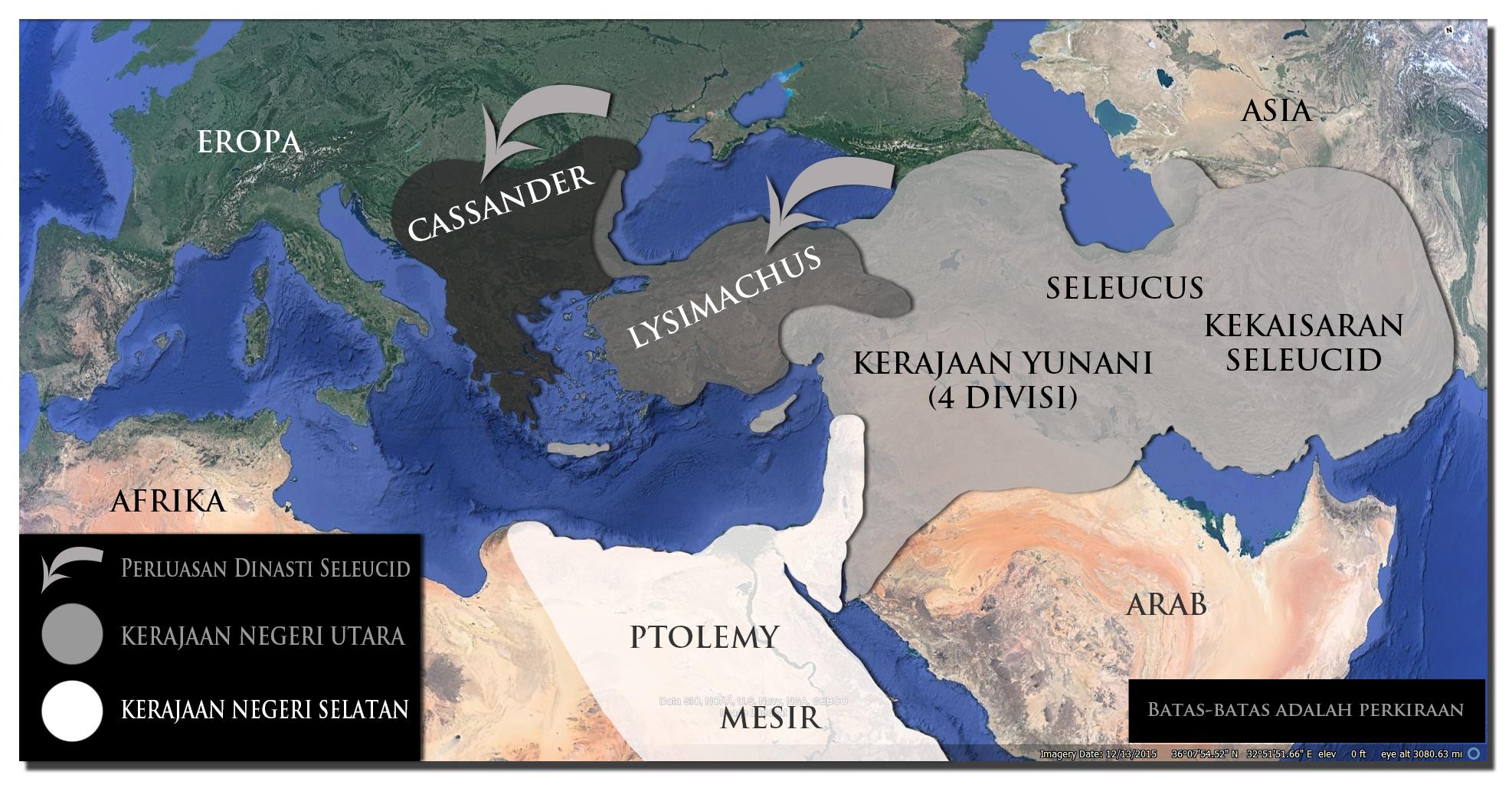 kerajaan Alexander Agung yang terbagi-bagi