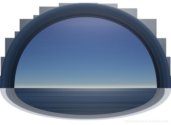 평평한 지구의 궁창 – 위의 물과 아래의 물