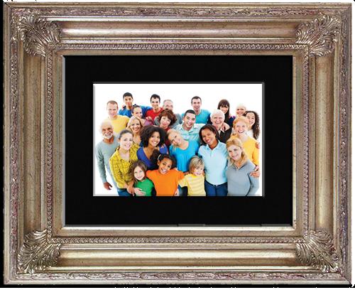 खुशहाल लोगों की तस्वीर
