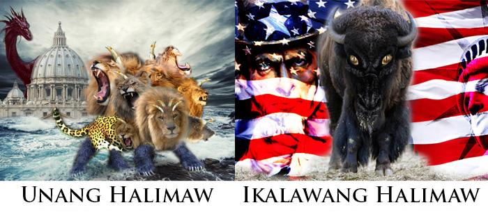 Pahayag 13: Unang Halimaw (Roma) at Ikalawang Halimaw (Estados Unidos)