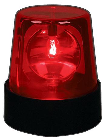 लाल चमकती रोशनी