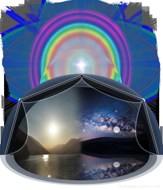 Terre Plate Firmament (voûte céleste, dôme) - Comme une tente (toile)