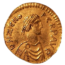 gintong tremissis ng Emperador Zeno (474-491)