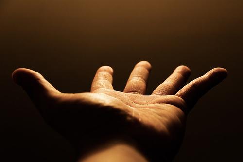 geöffnete Hand