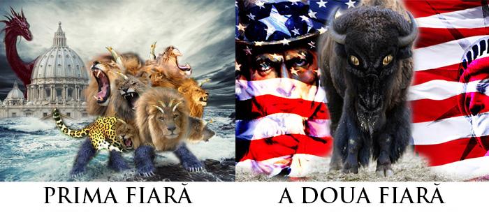 Apocalipsa 13: Fiara Dintâi (Roma) și a Doua Fiară (SUA)