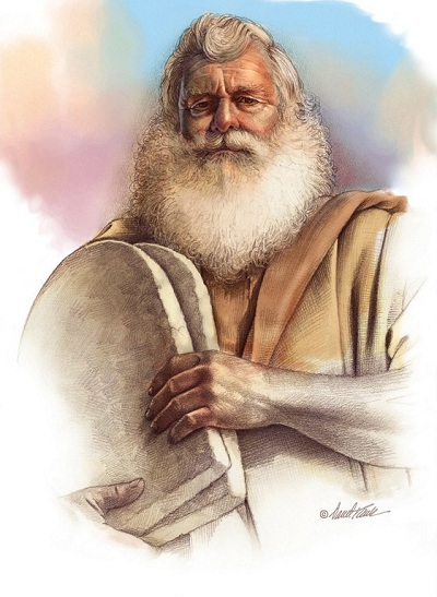 Moses mit den Zehn Geboten