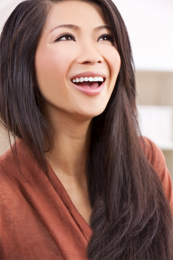 lächelnde junge Frau