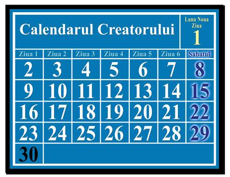 Calendarul Luni-Solar al Creatorului