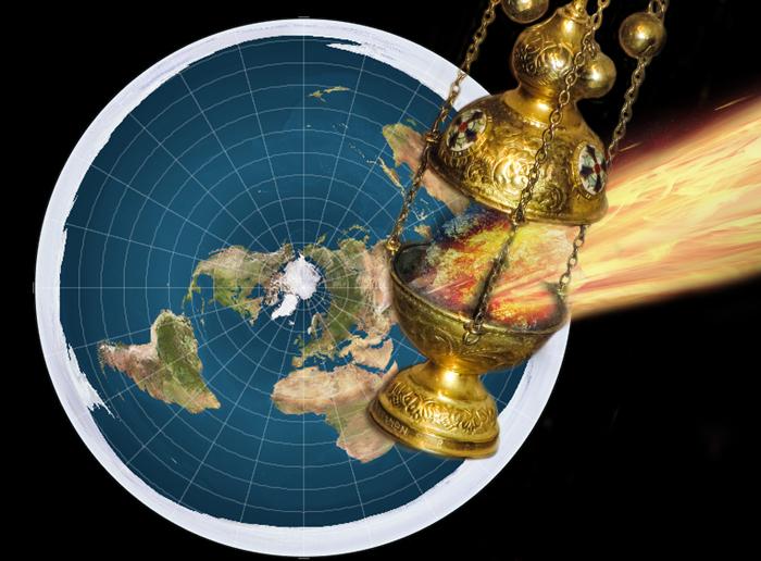 un encensoir frappe la Terre